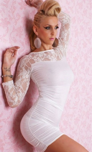White-club-dress-women