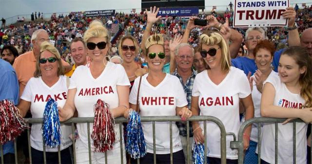 Image result for Donald Trump racist rallies